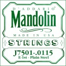 D'Addario J7501Plain Steel Mandolin Single String First String .0115