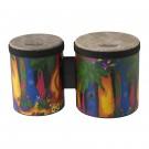 Remo KD-5400-01 Kids Percussion Bongo Drum - Rain Forest Finish