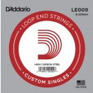 D'Addario LE009 Plain Steel Loop End Single String .009