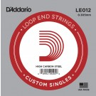 D'Addario LE012 Plain Steel Loop End Single String .012