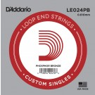 D'Addario LE024PB Phosphor Bronze Loop End Single String .024