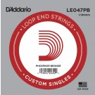 D'Addario LE047PB Phosphor Bronze Loop End Single String .047
