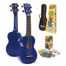 Mahalo MR1BUK - Soprano Ukulele - Learn 2 Play Pack - Blue