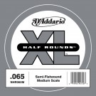 D'Addario NHR065M Half Round Bass Guitar Single String Medium Scale .065