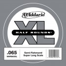 D'Addario NHR065SL Half Round Bass Guitar Single String Super Long Scale .065
