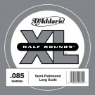 D'Addario NHR085 Half Round Bass Guitar Single String Long Scale .085
