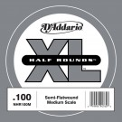 D'Addario NHR100M Half Round Bass Guitar Single String Medium Scale .100