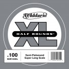 D'Addario NHR100SL Half Round Bass Guitar Single String Super Long Scale .100