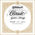 D'Addario NYL019 Rectified Nylon Classical Guitar Single String .019