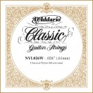 D'Addario NYL026W Silver-plated Copper Classical Single String .026