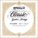 D'Addario NYL028W Silver-plated Copper Classical Single String .028