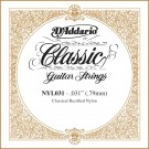 D'Addario NYL031 Rectified Nylon Classical Guitar Single String .031