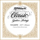 D'Addario NYL035W Silver-plated Copper Classical Single String .035