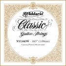D'Addario NYL043W Silver-plated Copper Classical Single String .043