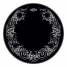 "Remo 22"" Powerstroke P3 Tattoo Skulls Graphic on Black"