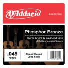 D'Addario PBB045 Phosphor Bronze Acoustic Bass Single Strings Long Scale .045