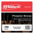 D'Addario PBB100 Phosphor Bronze Acoustic Bass Single Strings Long Scale .100