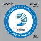 D'Addario PL0095 Plain Steel Guitar Single String .0095