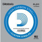 D'Addario PL011 Plain Steel Guitar Single String .011