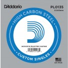 D'Addario PL0135 Plain Steel Guitar Single String .0135