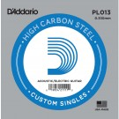 D'Addario PL013 Plain Steel Guitar Single String .013