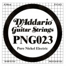D'Addario PNG023 Pure Nickel Electric Guitar Single String .023
