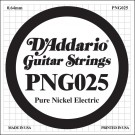 D'Addario PNG025 Pure Nickel Electric Guitar Single String .025