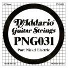 D'Addario PNG031 Pure Nickel Electric Guitar Single String .031