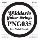 D'Addario PNG035 Pure Nickel Electric Guitar Single String .035
