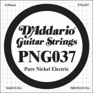 D'Addario PNG037 Pure Nickel Electric Guitar Single String .037