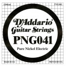 D'Addario PNG041 Pure Nickel Electric Guitar Single String .041