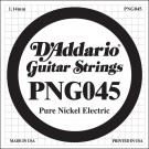D'Addario PNG045 Pure Nickel Electric Guitar Single String .045