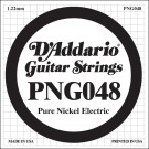 D'Addario PNG048 Pure Nickel Electric Guitar Single String .048