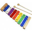 Percussion Plus 8-Note Coloured Glockenspiel with Natural Wood Frame