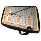 Percussion Plus 20-Note Glockenspiel with Natural Wood Frame & Bag