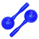 Percussion Plus Round Head Plastic Maracas in Blue