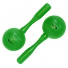 Percussion Plus Round Head Plastic Maracas in Green
