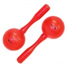 Percussion Plus Round Head Plastic Maracas in Red
