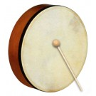 "Percussion Plus 10"" Handheld Frame Drum with Wooden Beater"