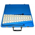 Percussion Plus 13-Note Glockenspiel in Blue Wooden Case