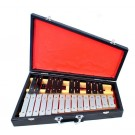 Percussion Plus 25-Note Glockenspiel in Black Wooden Case