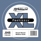 D'Addario PSB045M ProSteels Bass Guitar Single String Medium Scale .045