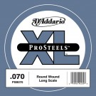 D'Addario PSB070 ProSteels Bass Guitar Single String Long Scale .070