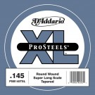 D'Addario PSB145TSL ProSteels Bass Guitar Single String Super Long Scale .145 Tapered