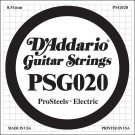 D'Addario PSG020 ProSteels Electric Guitar Single String .020