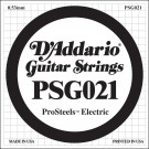 D'Addario PSG021 ProSteels Electric Guitar Single String .021