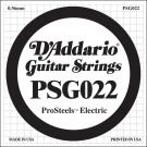 D'Addario PSG022 ProSteels Electric Guitar Single String .022
