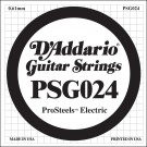D'Addario PSG024 ProSteels Electric Guitar Single String .024