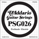 D'Addario PSG026 ProSteels Electric Guitar Single String .026