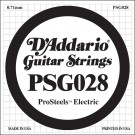 D'Addario PSG028 ProSteels Electric Guitar Single String .028